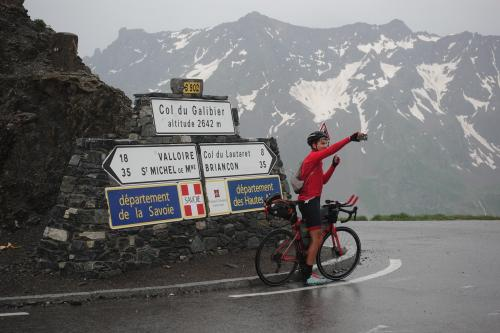 Camile Colle at Col du Galibier